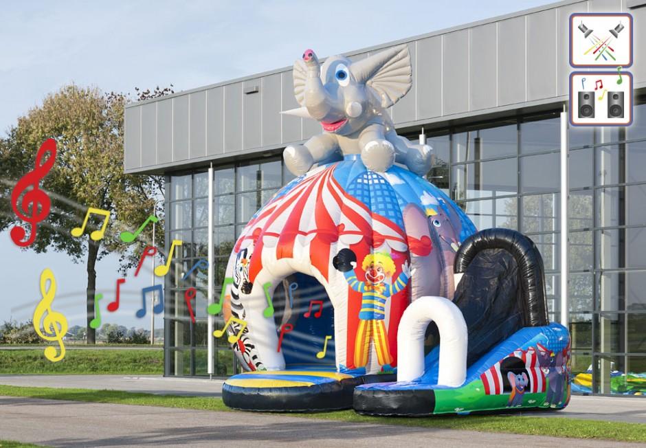 château gonflable Disco Fun Cirque